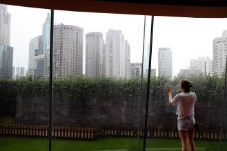 The rain would turn out to be a familiar sight while we were in China...