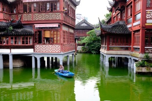 Some of the interesting architecture of the area surrounding the Yu Garden.