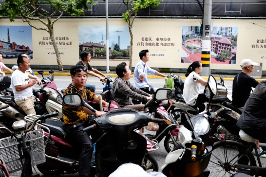 Scooters are everywhere in Chinese cities...
