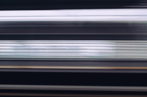 I have a strange fascination with taking long exposures while on trains...you get these really interesting horizontal stripes that represent the color palette of the area without being distracted by any of the details...