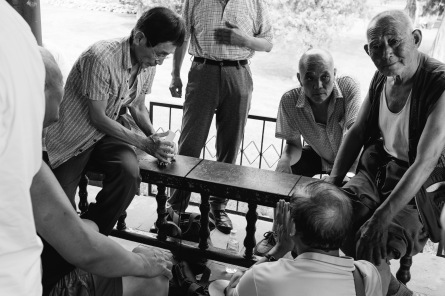 The card games in the park just outside the temple were quite intense...