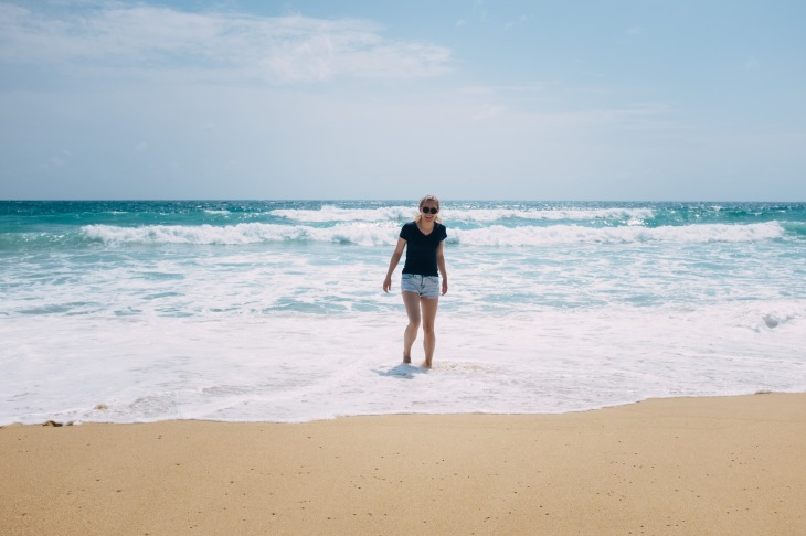 Christina enjoying the beach!