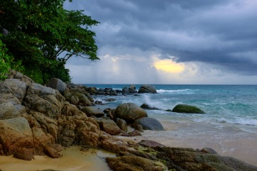 I love stormy weather over the ocean...