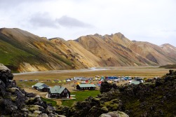 Looking back at the huts/campsite and the Landmannalauger valley